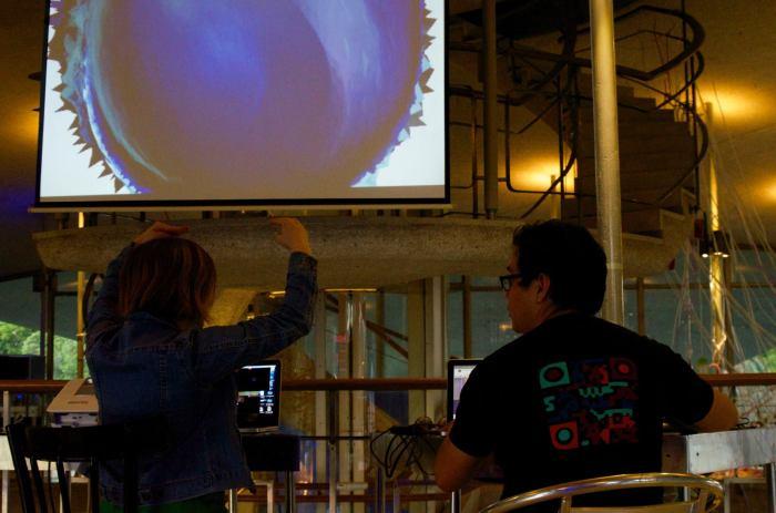 Concierto Hidropoética en Planetario Galileo Galilei de Bs. Aires,2015.